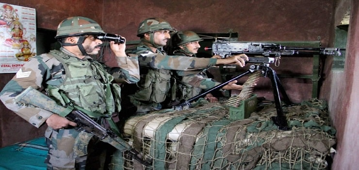 Indian army at LOC